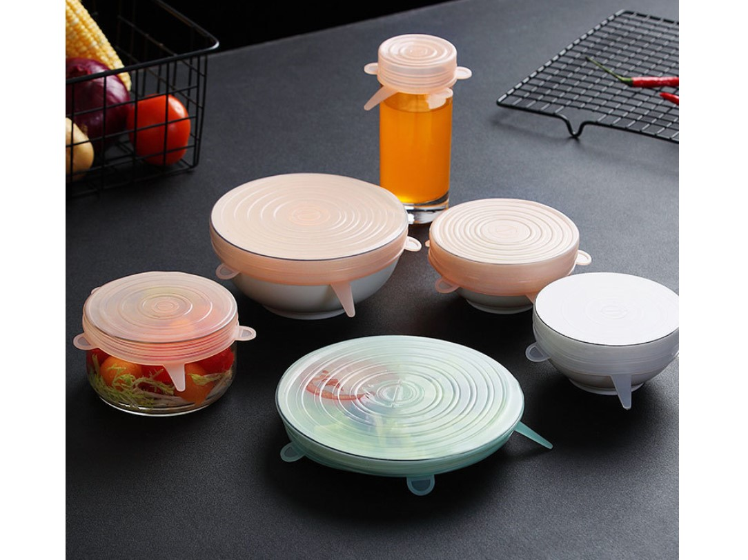 Silicone Food Lids 6 Pcs Set