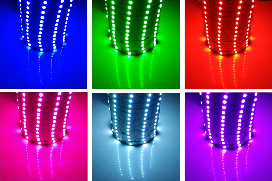 LED Stripes with Remote Control and Adapter