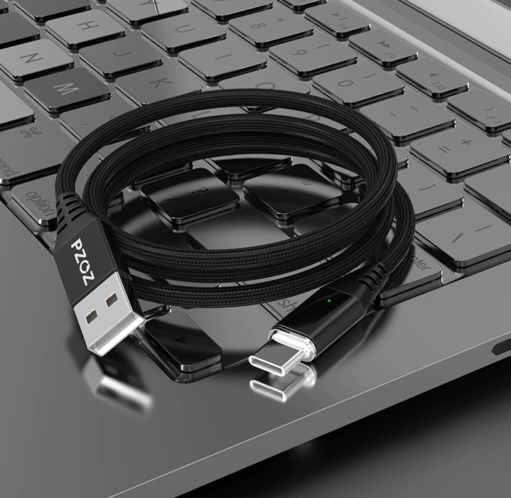 Magnetic Micro USB, Type C, Lightning to USB Cable