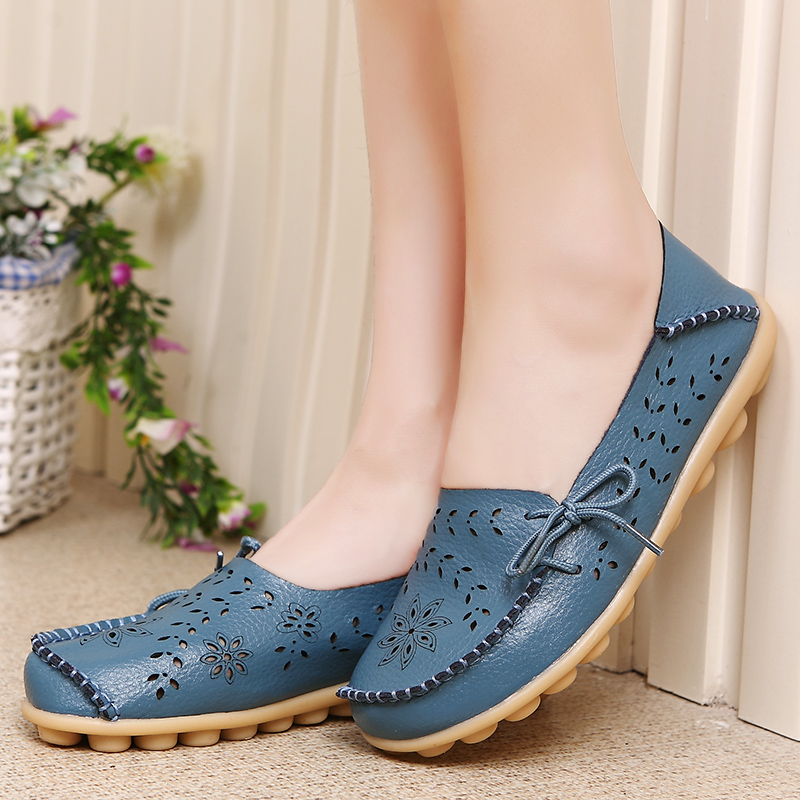 Women's Casual Summer Breathable Leather Loafers