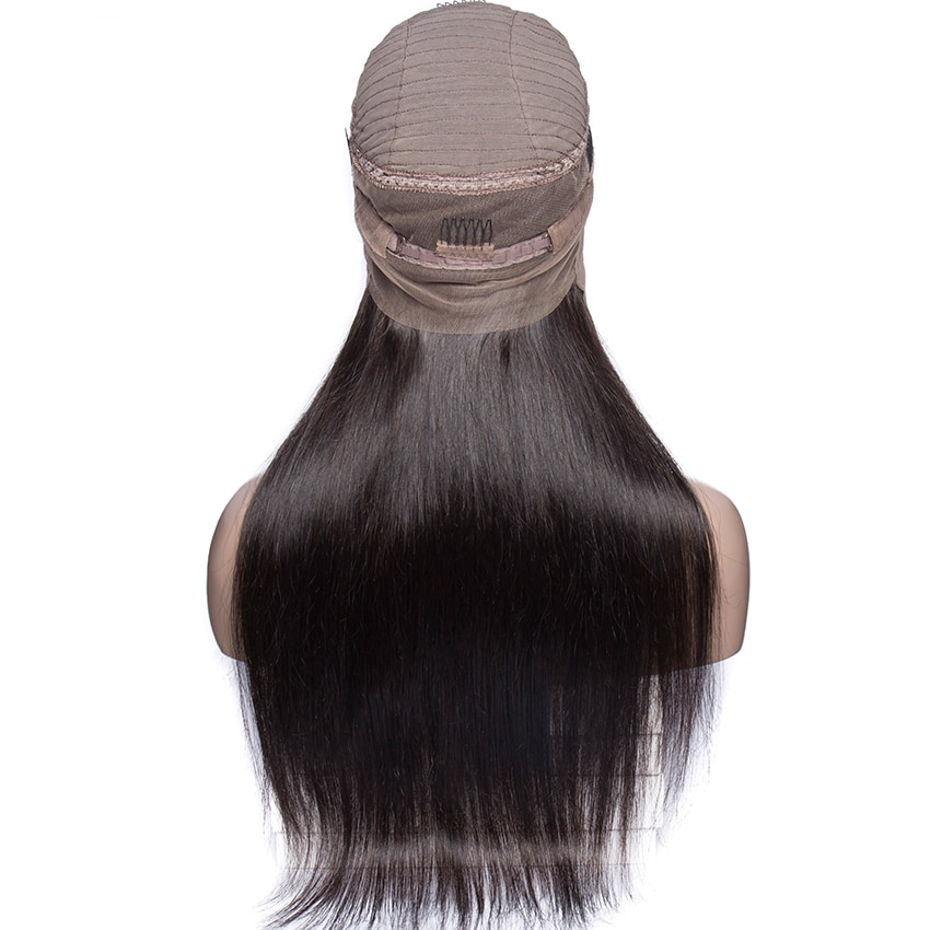 Straight 360 Lace Frontal Pre Plucked Wigs