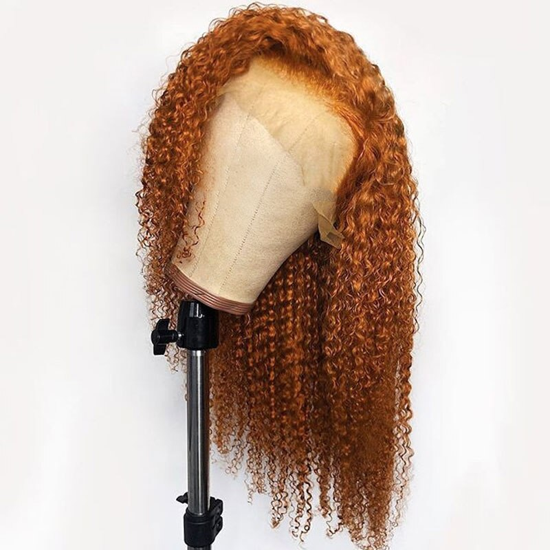 Orange Curly 360 Lace Frontal Wig for Women