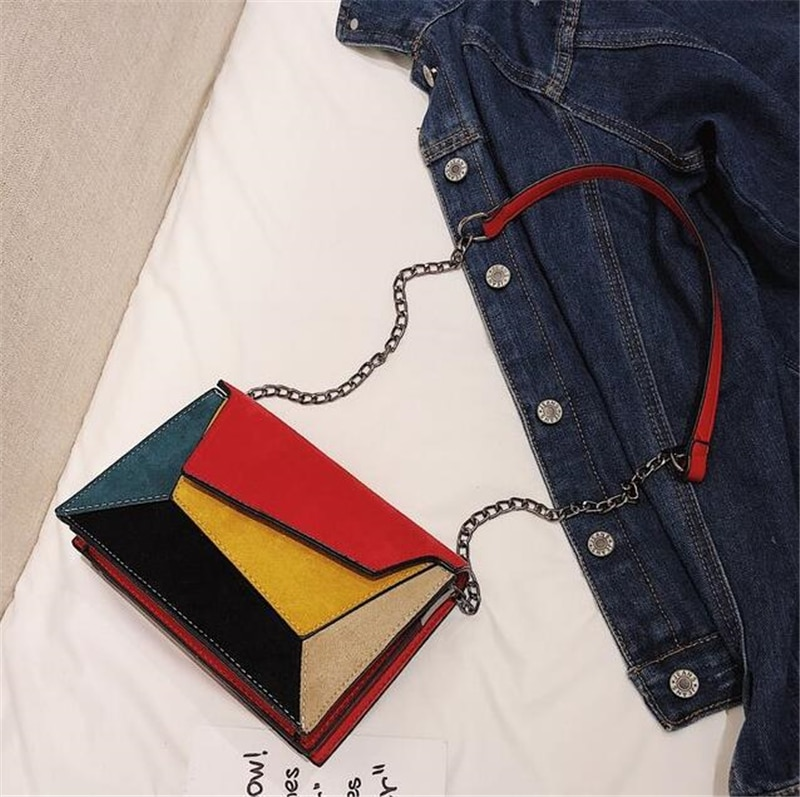 Women's Retro Patchwork Crossbody Bag