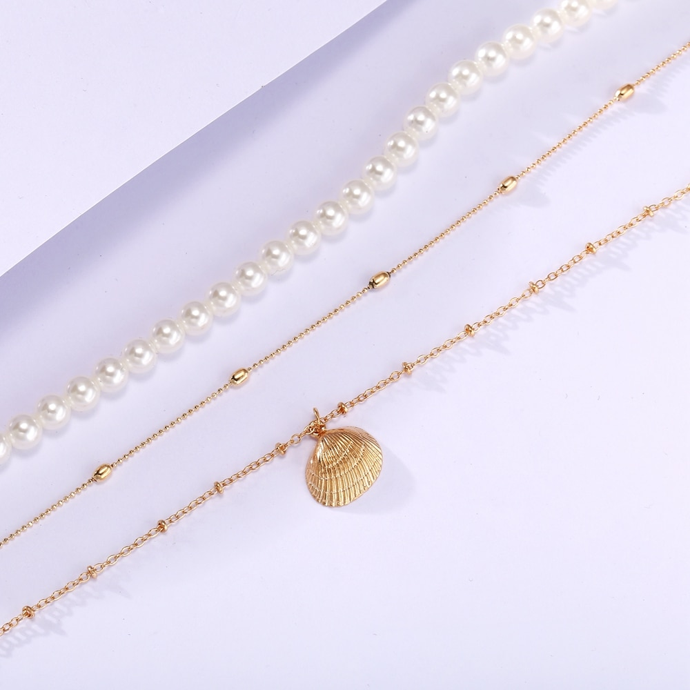 Vintage Multi-Layer Pearl Necklace for Women