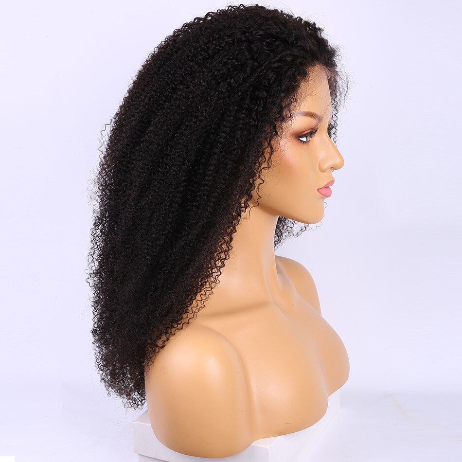 Mogolian Afro Kinky Curly Lace Frontal Wig