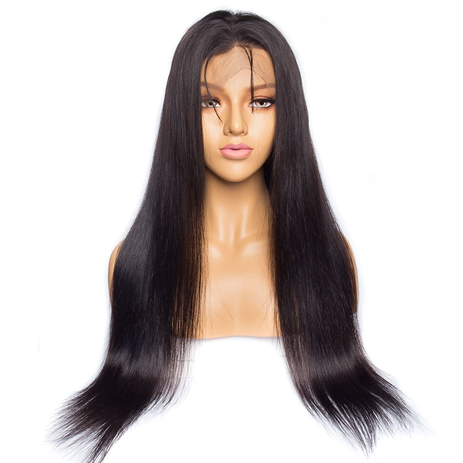 Straight Brown 360 Lace Frontal Wig with Baby Hair