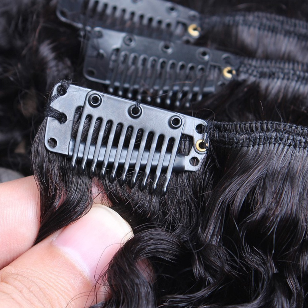 Women's Curly Clip Hair Extensions Set 7 Pcs