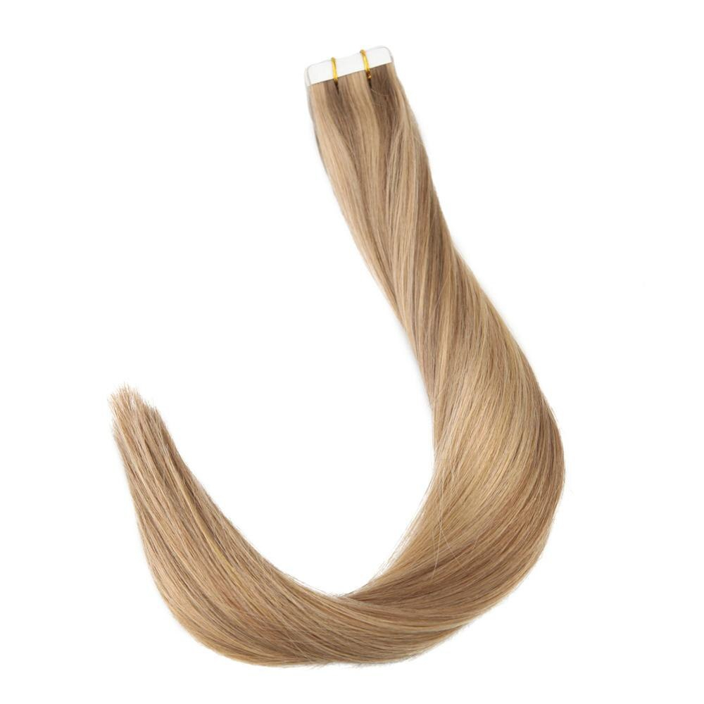 Highlights Straight Tape-In Remy Human Hair Extensions Set
