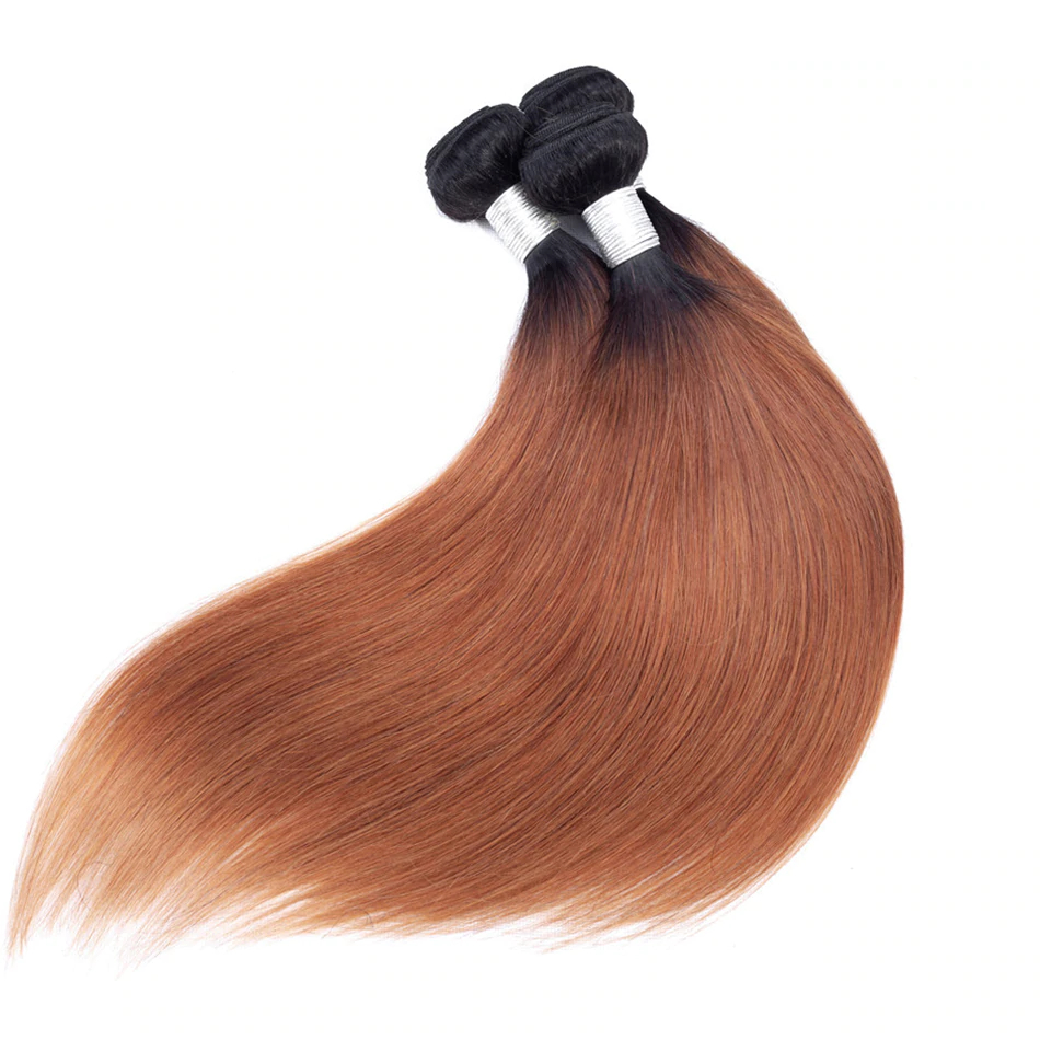 Malaysian Brown Ombre Straight Hair Bundles