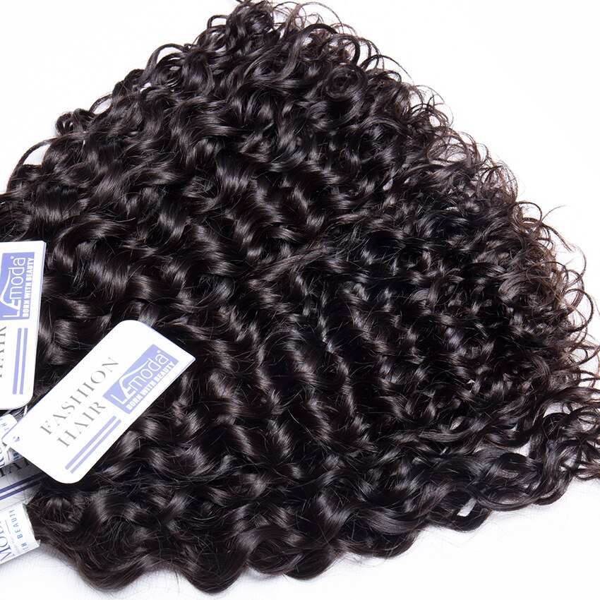 Malaysian Water Wave Human Hair Bundles with Closure