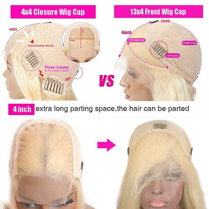 Women's Blonde Lace Front Wig