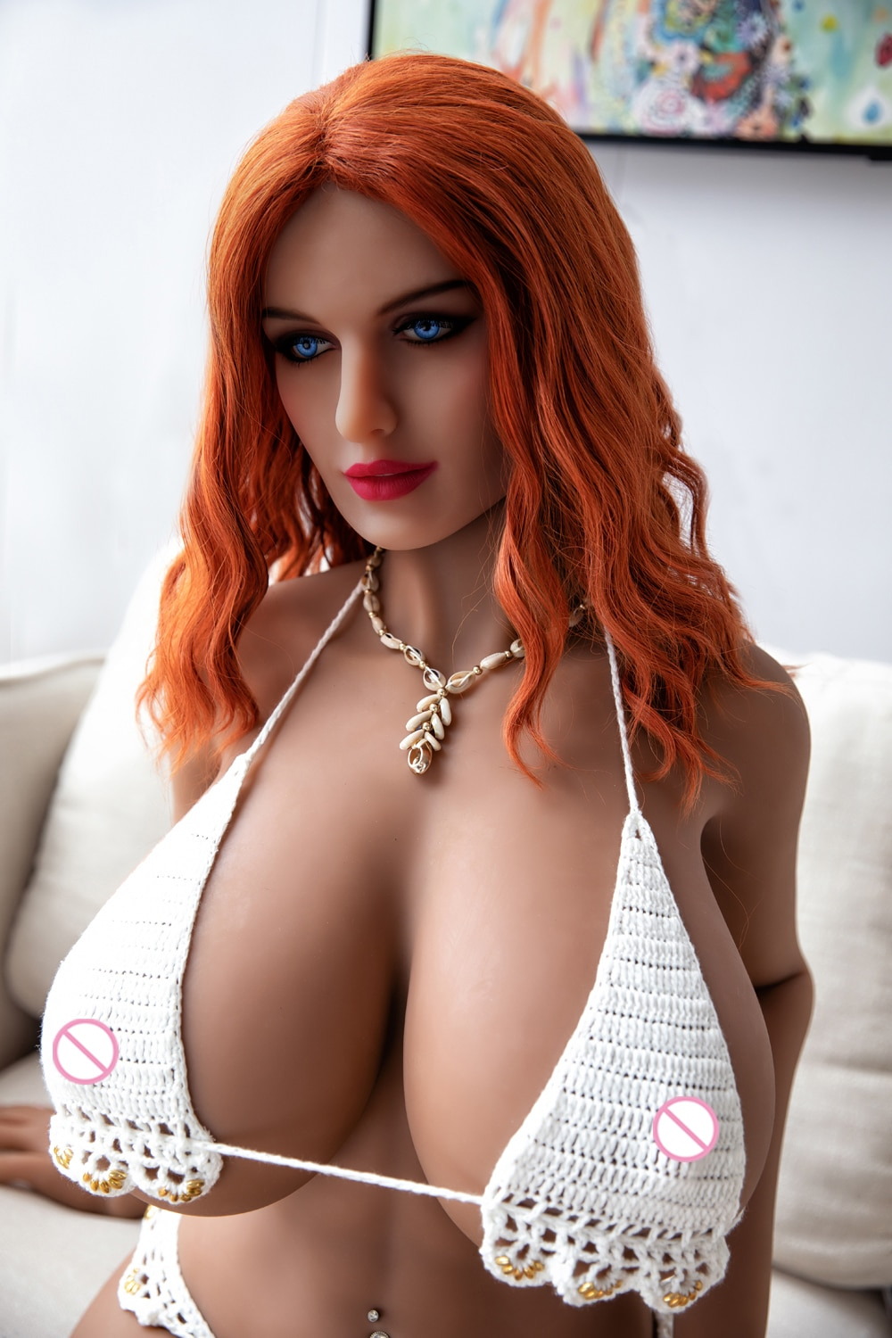 Red Hair Big Breast Sex Doll