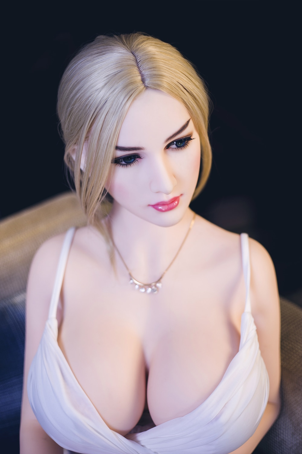 Blonde Caucasian Type with Big Breast Sex Doll